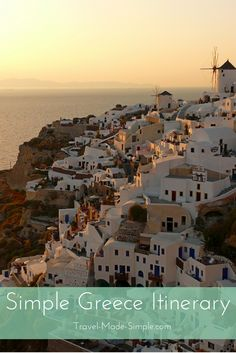 Our simple Greece itinerary will get you on your way to exploring a few of these destinations. Learn about Greek history, food, scenery and ancient ruins.