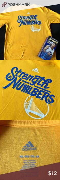 "🏀 Golden State Warriors Strength in Numbers Tee Get ready for another epic Golden State Warriors Playoffs run with this Adidas ""Strength in Numbers"" tee! Kids XL fits like Women's S. Adidas Shirts & Tops"