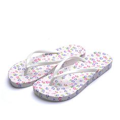 Korean version of the new non-slip flat flip flops casual summer sandals and slippers women sandals leopard White