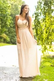 All That Shimmers Maxi Dress-Blush