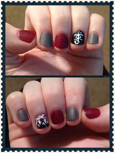 Oldschool Lord of the Rings nails done by me! :) <-- doing these now and they look great!