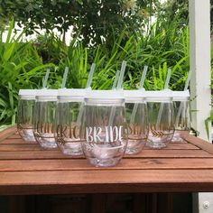 Bev2go Stemless Wine Glass Tumblers with lid and straw are personalized with custom printed vinyl! This listing is for 1 cup. If you would like like to order more than one please select a higher quantity from the drop down or use one of my bulk listings for quantities over 7.