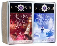 Stash Tea Company Holiday Chai - White Christmas Gift Set, 2.1-Ounce (Pack of 3) $19.85 #bestseller