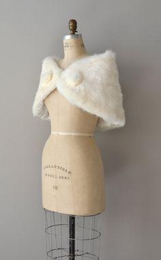 Snowed In wrap / 1950s rabbit fur stole / vintage by DearGolden, $124.00