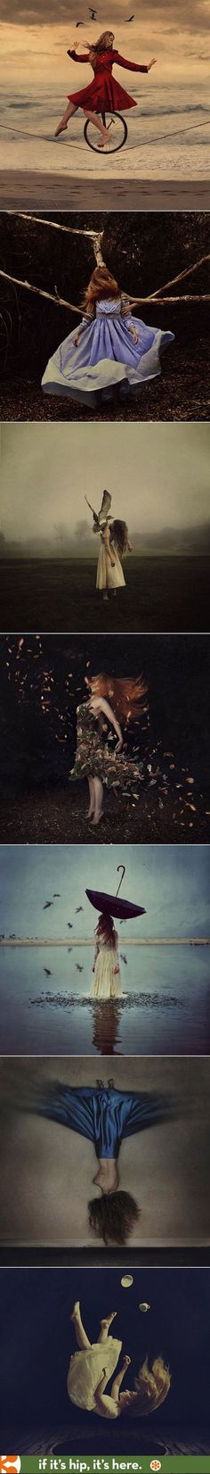 The magical yet eerie self-portraits of photographer Brooke Shaden. More at http://www.ifitshipitshere.com/dreamlike-self-portraits-brooke-shaden/