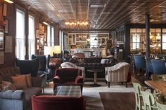 The Soho House (NYC) redesign looks very inviting. Totally a place to hang out and pretend to get some work done.
