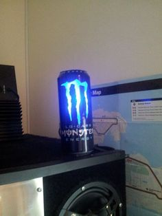 Picture of Led powered monster energy can