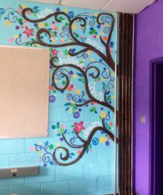 I painted this tree for my new art classroom