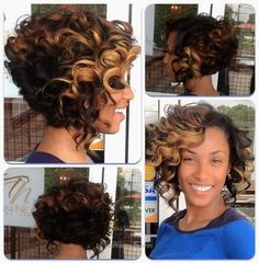 Check Out Our , Curly Bob Sew In Yelp Hair to Try, theyadoremani Bobs, Brown Human Hair Extensions Kinky Curly Weave 6 Bundles 8 Inch Bob. Black Curly Hair, Short Curly Hair, Short Hair Cuts, Curly Hair Styles, Natural Hair Styles, Black Curls, Long Face Hairstyles, Weave Hairstyles, Black Hairstyles