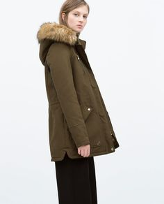 ZARA - COLLECTION SS15 - COMBINED PARKA WITH FUR HOOD