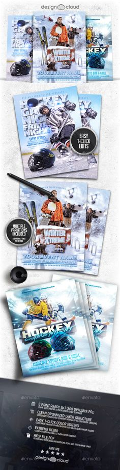 Buy Winter Sports Flyer / Poster Template Bundle Vol 2 by Design-Cloud on GraphicRiver. Winter Sports Flyer / Poster Template Bundle These fully editable flyer template is perfect for any Party, Personal, . Flyer Poster, Club Poster, Event Flyer Templates, Psd Templates, Sports Flyer, Vol 2, Extreme Sports, Winter Sports, Flyer Design