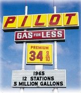 Pilot gas station sign from 1965...do you even remember this price!?