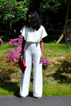70's kinda luv: Crop top with high waist pant; playing with proportions
