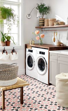 This airy Moorish-inspired laundry room was designed on both a polyester and a silk budget. Can you tell the difference? | Image: Michael Nangreaves | Producer: Andrea McCrindle #StyleatHome #HighOrLow #LaundryRoom #interiordesign