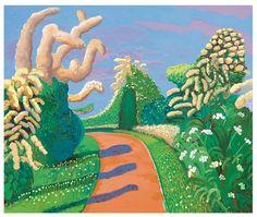 David Hockney Pop Art Paintings at Pace Wildenstein Art Painting, Landscape Paintings, David Hockney Paintings, Painting, Pop Art Painting, Art, Pop Artist, Abstract, David