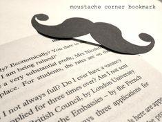 Mustache activities: Hercule Poirot's Mustache bookmark. Easy tutorial.