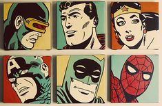 vintage comic book boy nursery pop art superhero gallery