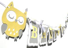 Items similar to Yellow and Grey Woodland Owl Animal Themed Party Baby Shower Banner on Etsy Owl Party Decorations, Party Themes, Party Ideas, Owl Animal, Owl Pet, Baby Shower Parties, Woodland, Scrap, Forget