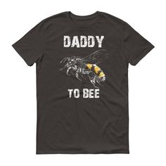 Men's Daddy to bee tshirt first time dad gifts