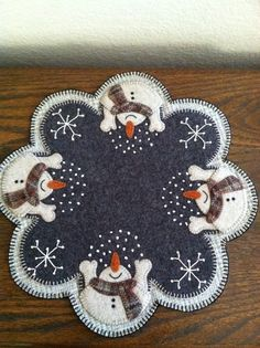 Grace's Favours - Craft Adventures: Felt Penny Rug Pattern for my 100th Blog Post!