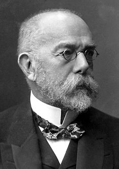 """Robert Koch, The Nobel Prize in Physiology or Medicine 1905: """"for his investigations and discoveries in relation to tuberculosis"""", bacteriology, disease transmission"""