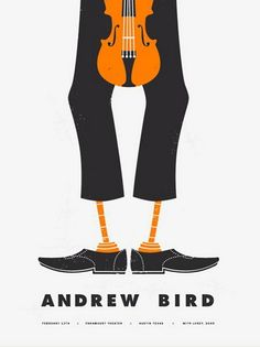 Andrew Bird Austin concert poster by Justin Cox - Various Artists - Gallery