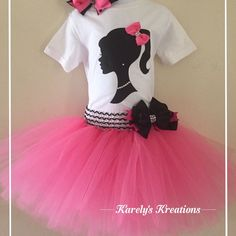 Barbie Inspired Tutu Birthday Outfit by KarelysKreations on Etsy