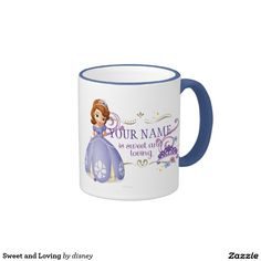 Princess - Sweet and Loving Ringer Coffee Mug. Regalos, Gifts. Producto disponible en tienda Zazzle. Tazón, desayuno, té, café. Product available in Zazzle store. Bowl, breakfast, tea, coffee. #taza #mug
