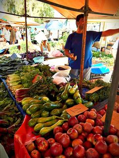 World class Farmers Market in Nafplio, Greece. Beautiful.