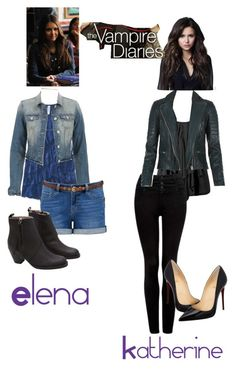 """Inspired Katherine Pierce And Elena Gilbert Outfits (TVD)"" by kimduarte ❤ liked on Polyvore"