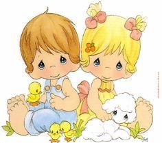❤Lamb and Ducklings ~ Precious Moments Precious Moments Coloring Pages, Precious Moments Quotes, Precious Moments Figurines, Cute Images, Cute Pictures, Sarah Kay, Monster High Dolls, Digi Stamps, Cute Illustration