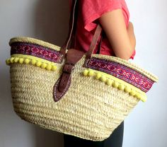 Bohemian Straw Bag. Unique design / Made in Spain / Handicrafted