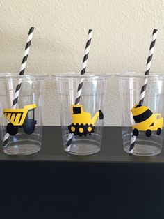 Construction party cups Construction birthday party Tool Party Construction Party Favors Construction Baby Shower Things that Go Party Construction Party Decorations, Construction Birthday Parties, Construction Theme, Boy Birthday Parties, 3rd Birthday, Birthday Banners, Birthday Favors, Birthday Invitations, Tool Party