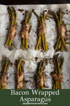 Bacon wrapped asparagus that are perfect for a snack or dinner side dish, or even at an appetizer party. Such a delicious asparagus recipe for spring or summer! Bacon Wrapped Asparagus, Baked Asparagus, Asparagus Recipe, Potluck Recipes, Spring Recipes, Healthy Dinner Recipes, Appetizer Recipes, Snack Recipes, Whole 30 Snacks