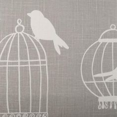 my obsession with bird cages continues - Duralee fabric :) Velvet Upholstery Fabric, Fabric Ottoman, Ikat Fabric, Drapery Fabric, My Little Pony Fabric, Chinoiserie Motifs, Coral Pattern, Silver Fabric, Fabric Patterns