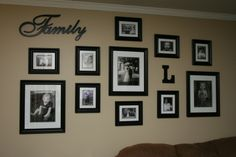 Family gallery wall family photo wall collage unique wall decor ideas entrance hallway home template modern family gallery wall Wall Decor Design, Unique Wall Decor, Room Wall Decor, Art Decor, Family Pictures On Wall, Family Wall, Family Room, Family Photos, Framed Pictures