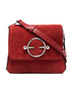 c090dc8d6a red Disc suede and leather cross-body bag Designer Purses And Handbags