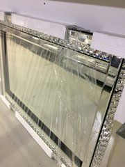Beautiful crystal design wall mirror