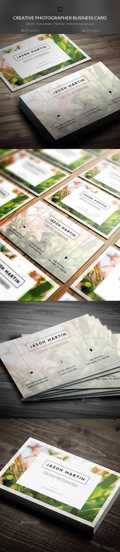 Creative Photographer Business Card Template PSD   Buy and Download: ...