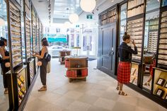 Ollie Quinn is a boutique eyewear store with multiple locations in Toronto including this one on Queen West. Toronto Location, Toronto Ontario Canada, Warby Parker, Vintage Inspired, Eyewear, Inspiration, Home, Traveling, Design