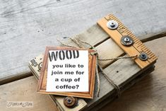 101 Gifts under 5$ - make these junk style yardstick reclaimed wood coasters  - via FunkyJunkInteriors.net