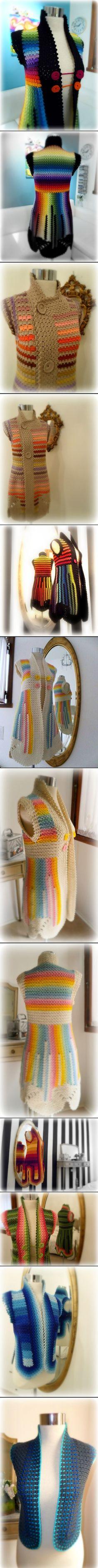 Crochet Jackets ♪ ♪ ... #inspiration_crochet #diy GB http://www.pinterest.com/gigibrazil/boards/