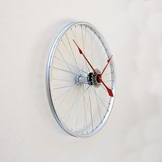 Selectism - Recycled Bicycle Wheel Clock