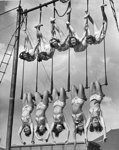 Aerial Ballet, 1948 ~ Now this is entertainment ... ~ ~ Leave Elephants out of the Circus ~