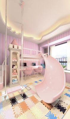 Small Room Design Bedroom, Kids Bedroom Designs, Cool Kids Bedrooms, Bedroom Decor For Teen Girls, Bedroom Furniture Design, Home Room Design, Kids Room Design, Awesome Bedrooms, Cool Rooms