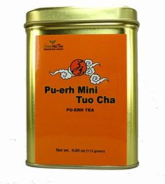Puerh mini ball puerh pie Puerh Tuo Cha low cholesterol weight loss tea detox tea  4 Oz in tea tin *** You can get more details by clicking on the image. (This is an affiliate link and I receive a commission for the sales)