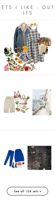 """""""S E T S   I   L I K E   :   O U T F I T S"""" by mordetis ❤ liked on Polyvore featuring Chicnova Fashion, Converse, Market, Mikoh, River Island, Moma, MSGM, Blue, Boots and activewear"""