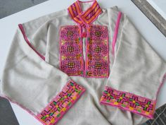 Embroidered traditional Ukrainian 'sorochka', or shirt, in a style popular in the city of Horodenka and surrounding villages of Yaseniv-Pil'nyi, Torhovytsya, Tyshkivtsi, and Luka, located in the ethnographic region of Pokuttya in Carpathian Western Ukraine. (Hand embroidered and assembled by Dave Melnychuk)