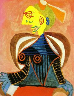 Pablo Picasso, Portrait of Lee Miller as L'Arlésienne, Musée Picasso, Paris Pablo Picasso, Picasso Art, Picasso Paintings, Lee Miller, Trinidad, Picasso Portraits, Cubist Movement, Tapestry Design, Illustrations