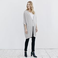 Long Single Button Cardigan | The White Company US
